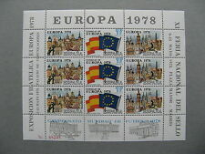 SPAIN, S/S 1978 MNH, Europe flag,  WC soccer football