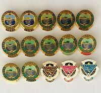 Mattara NDBA Bowling Club Carnival Set Of 15 Badge Pin Rare Seagulls (M21)