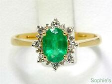 Emerald Yellow Gold 14k Engagement Rings