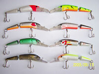 8 x 10g ULTRA JOINTED J13 PLUG LURES RAPALA TREBLE HOOK BASS PIKE 3 x WIRE TRACE
