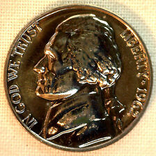 1962 PROOF Jefferson Nickel from US Mint Proof Set 5c Five Cent Coin Made in USA