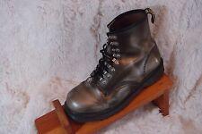 Dr Martens AirWair Rare Leather Boots Metal Hook Eye England Green Women 10
