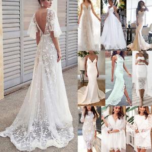 Damen Hochzeitskleid Ballkleid Abendkleid  Party BrautjungfernCocktailkleid Weiß