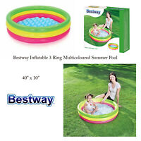 "Bestway Toddler Kids Colourful 40"" x 10"" Outdoor Garden Summer Paddling Pool"