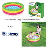 "Bestway Toddler Kids Colourful 40"" x 10"" Outdoor Garden Summer Paddling Pool"