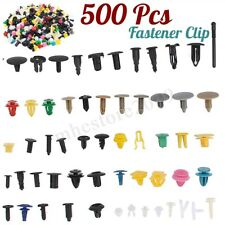500x Car Push Pin Fastener Clip Bumper Fender Mix Trim Set Kit Rivet Door Panel