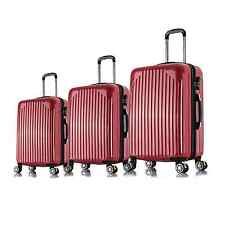 """20"""" 24"""" 28"""" 3PC Carry On Luggage Travel Bag Spinner Suitcase ABS Trolley- Red"""
