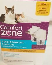 Comfort Zone Two Room Kit Multi Cat 2 Diffusers and Refills for Cats & Kittens