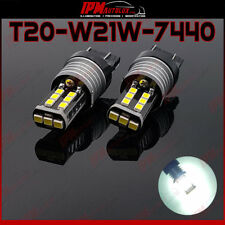 T20 W21W 7440 Xenon Look Pure White LED Lights Reverse Light CANBUS