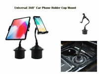 Universal 360° Mobile Phone Holder Car Cup Mount Cradle For iPhone iPad, Samsung