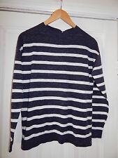 ⭐️ Bnwt Fat Face Navy & White Striped Jumper Size UK 8 Rrp £40