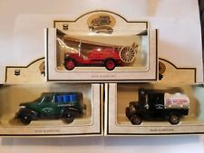LLEDO DIE-CAST Lot of 3 - 1939 Chevy 1920 Model T Ford, 1934 Dennis Fire Engine