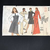 Vintage Very Easy Vogue Sewing Pattern 8418 Size 14 Large Tunic Pants Knit Dress