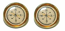 FAUX COMPASS CUFF LINKS (132a)