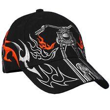 Motorcycle with Tribal Striping Ballcap Cap #1024