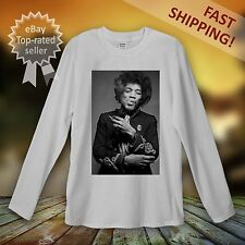 Jimi Hendrix Long Sleeve T-Shirt Men Women Unisex Guitar America Rock Vintage