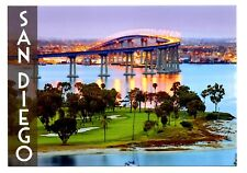 San Diego Bay California Postcard Sunset Lights Reflections Natural Harbor New