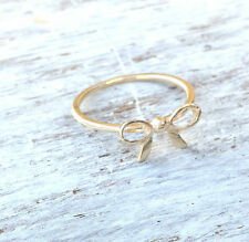 14k Yellow Gold Plated Stacking Bow Ring Sz 6,7,8,9 COLLECTION