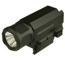 Quick Release Tactical 300 Lumen Led High Lighting Flashlight Light, W Battery