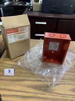 HONEYWELL 14503687 RED FIRE ALARM BACK BOX
