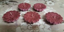 Glitter Pink Floating Candles (Pack of 5)