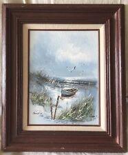 Vintage Original Oil Panting on canvas SEASCAPE  Signed SANDLER