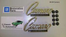 Camaro by Chevrolet Emblems Pair 68-69 Camaro *GM Resto Parts* Header Trunk