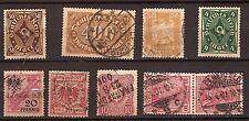311 ALEMANIA 8 Sellos matasellados muy antiguos 1880/1925
