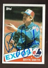 1985 TOPPS #88 BRYN SMITH EXPOS SIGNED CARD JSA STAMP B