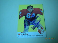 Dave Wilcox , 49'Ers Autographed Topps # 44 !