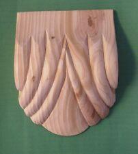 Tallado A Mano De Madera Corbel (582) 1 X Par-Mediano Ventilador Base Decorativa De Pino