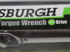 "NEW Pittsburgh Click Stop Torque Wrench Tool 1/2"" Drive Reversible Plastic Case"