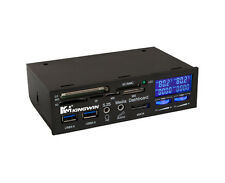 Kingwin FPX-004 5.25 Bay Fan Controller ,USB3.0/eSATA/Audio Port/Card Reader