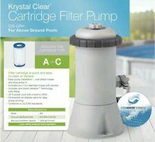 Intex Krystal Clear 530 GPH Easy Set Pool Cartridge Filter Pump 28603EG