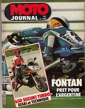 "MOTO JOURNAL N° 549 MARS 1982 ""650 SUZUKI TURBO"""