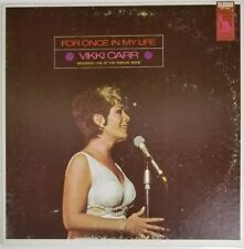 Vikki Carr For Once In My Life 1969 Liberty LST-7604 Vinyl Record LP