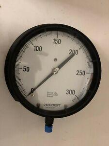 "Ashcroft Gauge 6"" 60 1379AS 02L 300# USA made 1/4"" NPT Bottom Mount"