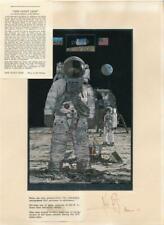 NASA Astronaut Neil Armstrong Apollo 11 First on Moon Signed Foil Etch COA