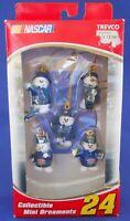 2005 Nascar 24 Jeff Gordon Snowman Pit Crew Christmas Mini Ornaments