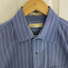Michael Kors Button Down Men's Shirt XL 17 1/2 36/37 Used Excellent Striped EUC