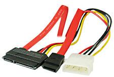 SATA Serial Ata Dual Combo COMBINADOS Alimentación Molex con Datos Cable