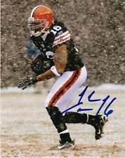 JOSH CRIBBS  CLEVELAND BROWNS   COLOR ACTION SIGNED 8x10