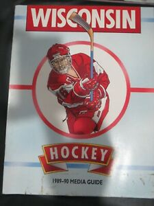 1989 1990 University of Wisconsin Badgers College Hockey Media Guide NATL CHAMPS