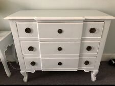 Mango Wood French Chest Of Drawers And Two Bedside Tables Pale Blue