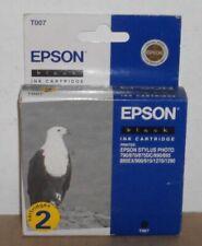 2 x Epson T007 Black Ink Stylus Photo 790 870 875 DC 890 895 900 915 1270 1290