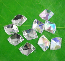 steeple faceted Aline 13X16mm Acrylic Crystal flat back sew Rhinestone applique