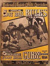 Original 1934 Spalding's Official Football Guide NCAA