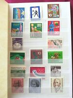WEST GERMANY 1966-86: 12 photos, 159 stamps, MNH +1 minisheets