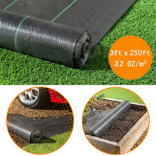 Woven Ground Cover Fabric Landscape Garden Weed Control Membrane 3*250' 3.2Oz/m²