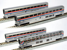 KATO 1063518 N Scale Amtrak Superliner 4 Passenger Car Set B Phase III 106-3518